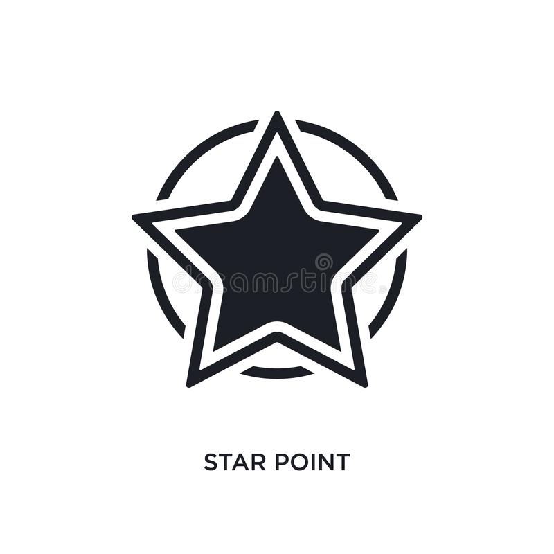 Star point isolated icon. simple element illustration from ultimate glyphicons concept icons. star point editable logo sign symbol. Design on white background royalty free illustration