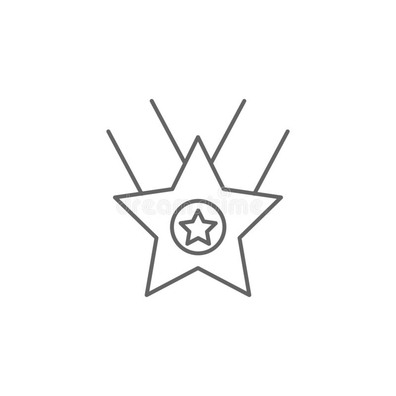 Star prize winner outline icon. Elements of independence day illustration icon. Signs and symbols can be used for web, logo,. Mobile app, UI, UX on white stock illustration