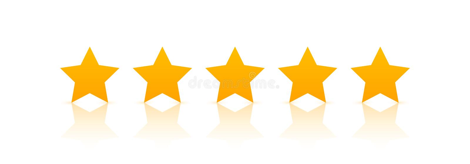5 star rating icon vector. Rate vote like ranking symbol.  vector illustration