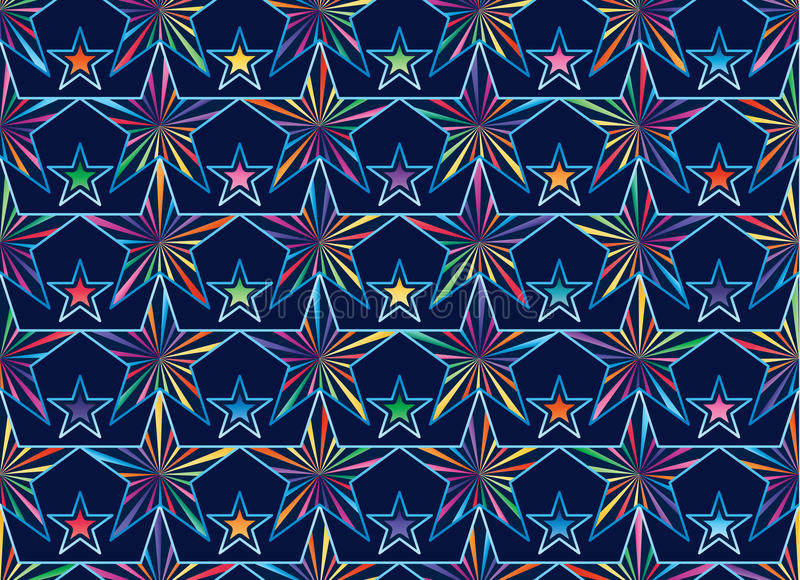 Star ray near connect seamless pattern royalty free illustration
