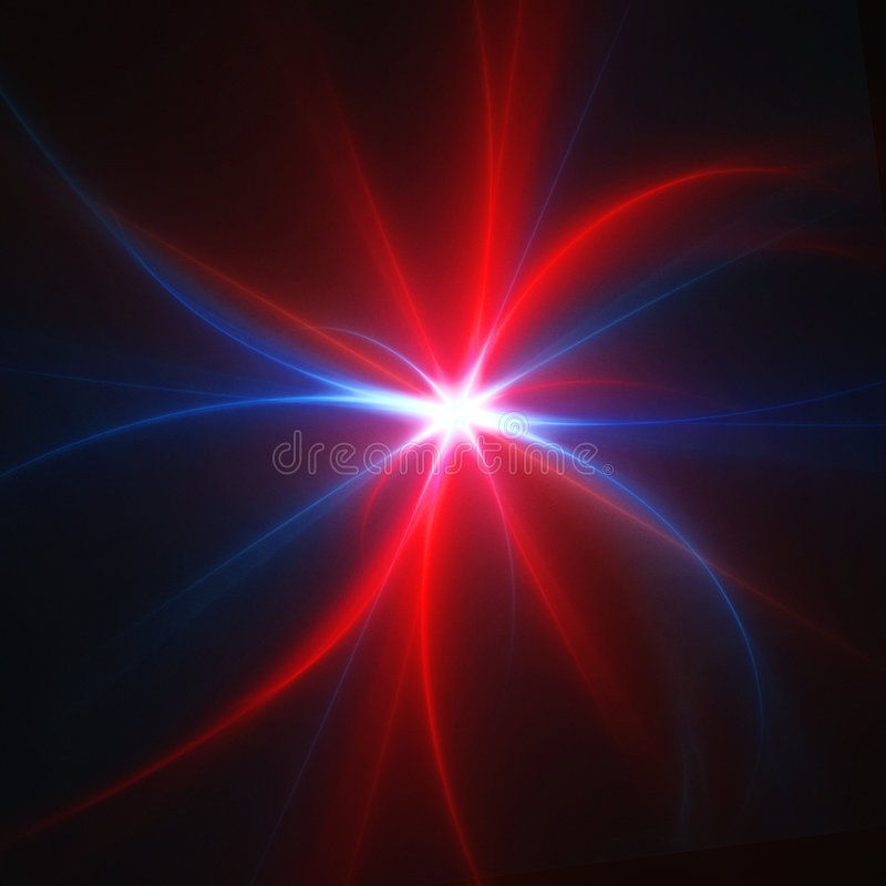 Star rays stock illustration