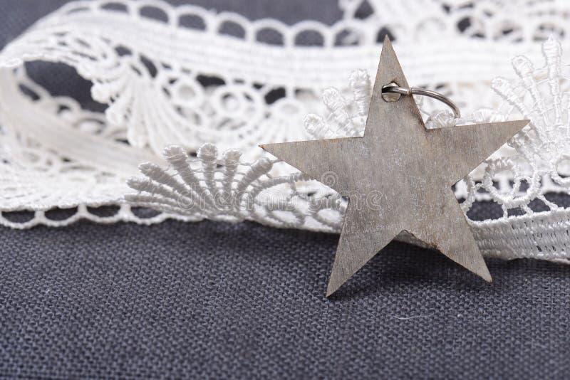 Star with ribbon royalty free stock photos