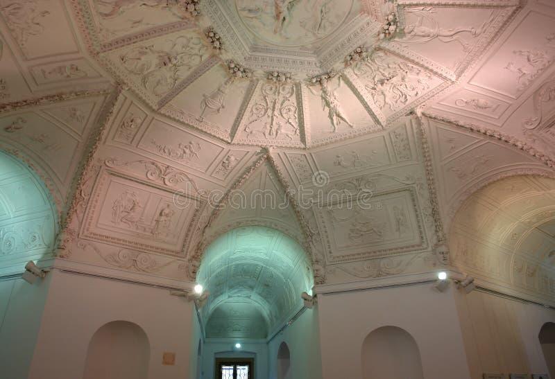 The Star Royal Summer Palace (Letohradek Hvezda), interior stock photography