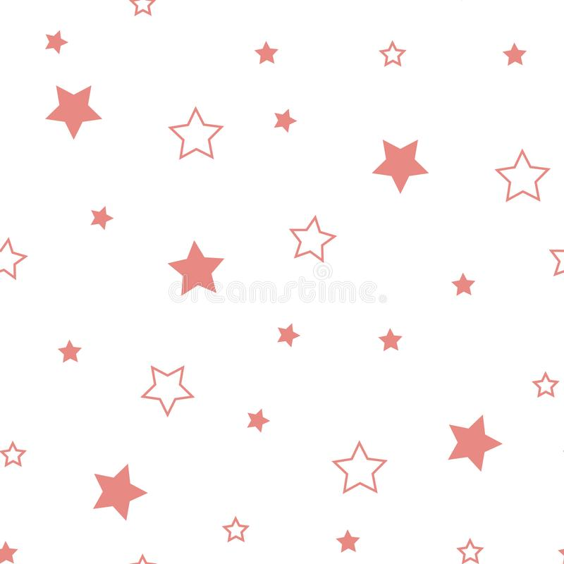 Star seamless pattern. Cute red stars. Baby Shower background. Babies Fashion. Vector illustration. Eps10 vector illustration