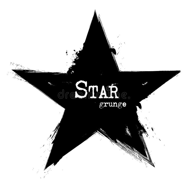 Star shape . Grunge style . Vector.  stock illustration