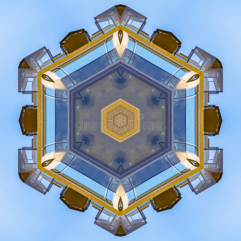 Star shape made from the decks and windows stock illustration