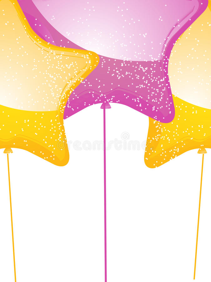 Download Star shaped balloons stock vector. Image of shape, inflated - 25503709
