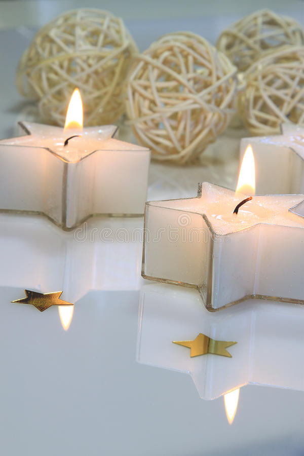 Download Star shaped candles stock image. Image of shine, tranquility - 11664381