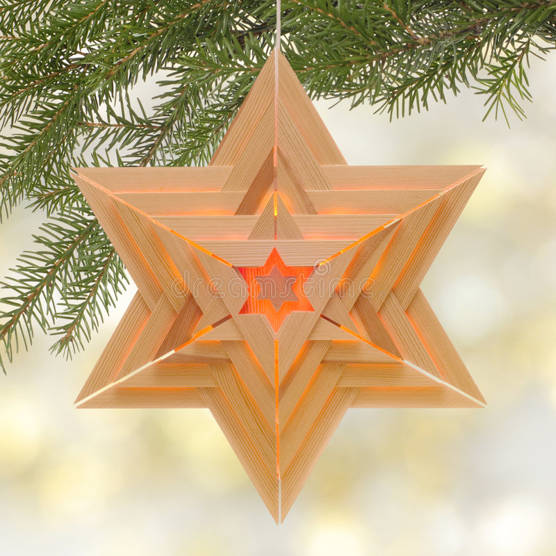 Download Star-shaped Christmas lamp stock photo. Image of blurry - 7248058