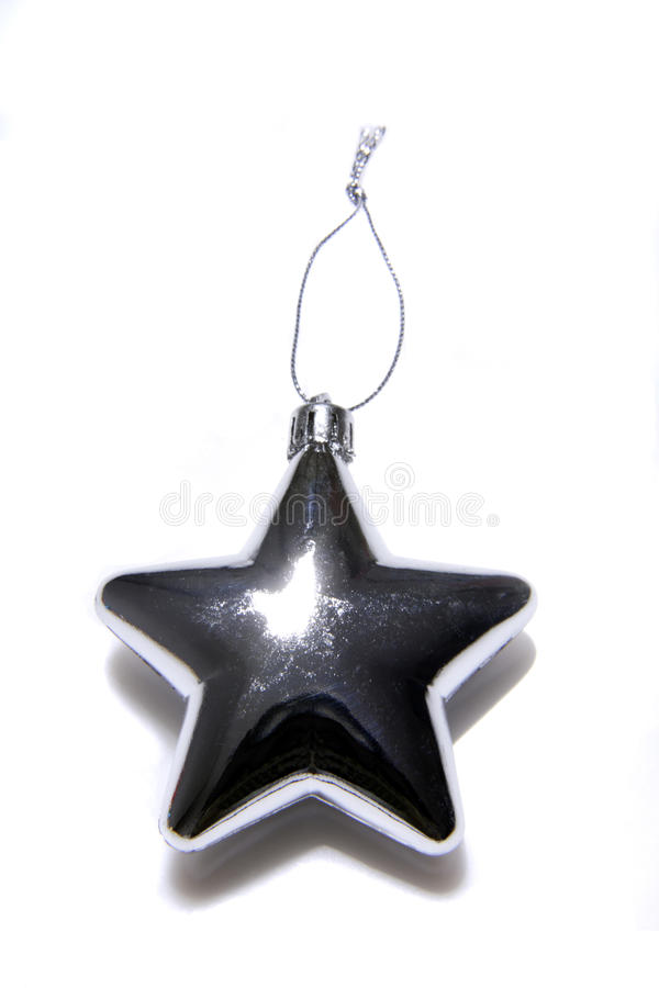 Star shaped Christmas tree decoration, elevated view royalty free stock image