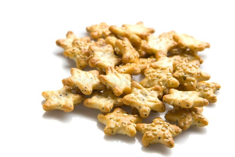 Star shaped crackers stock photos