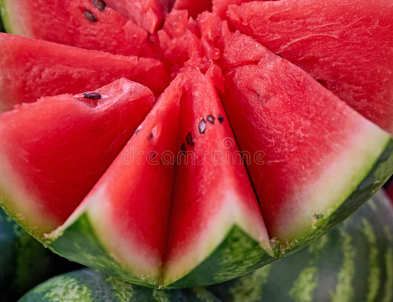 Star shaped cut watermelon royalty free stock photography