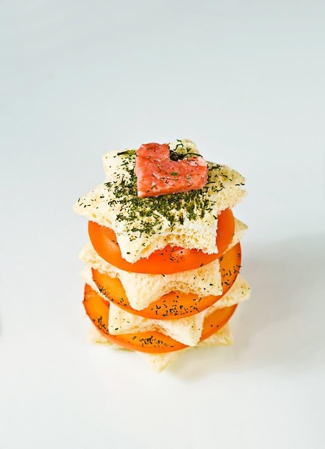 Star Shaped Healthy Sandwich stock photos