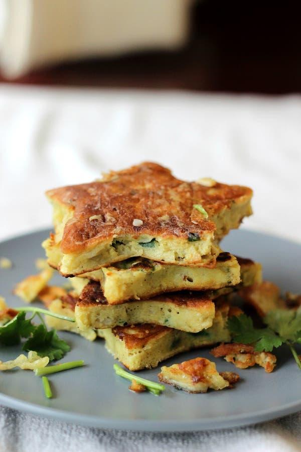Star shaped pancakes stock image