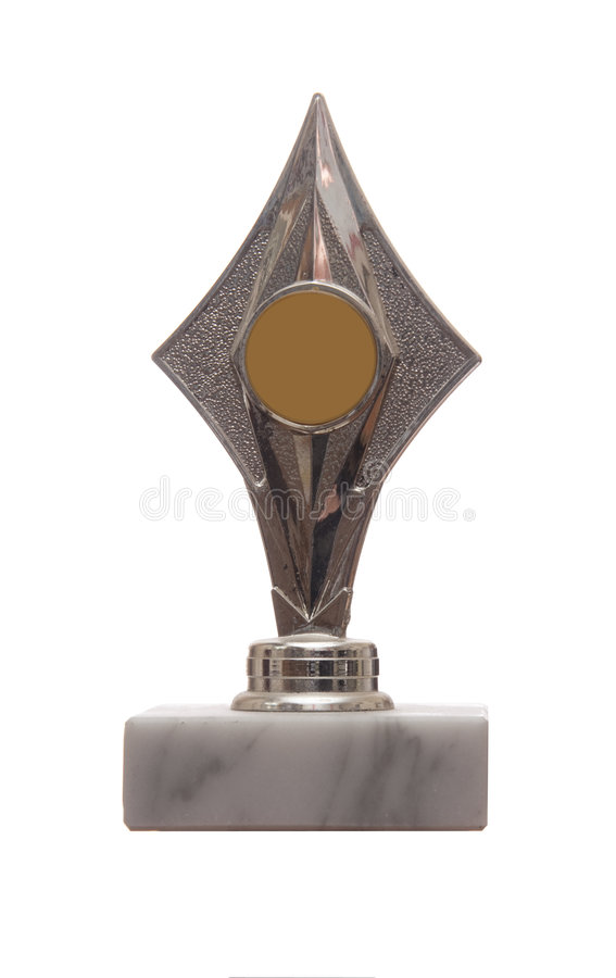 Star shaped trophy royalty free stock photo