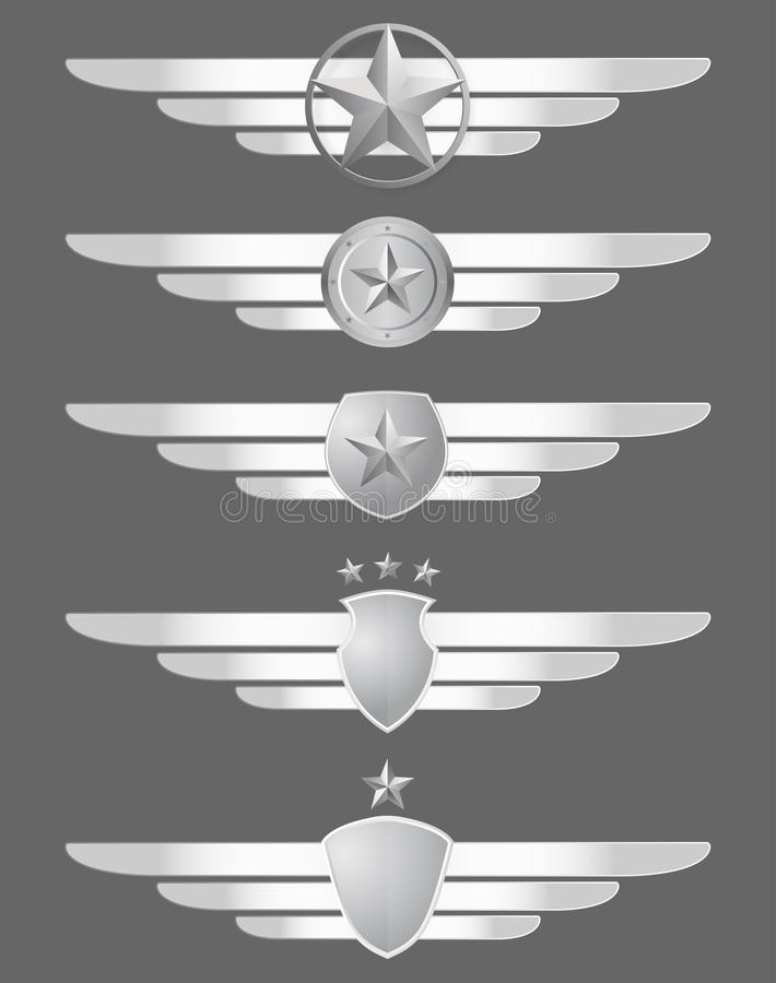 Free Star Shield And Wings Emblems Stock Image - 17122351