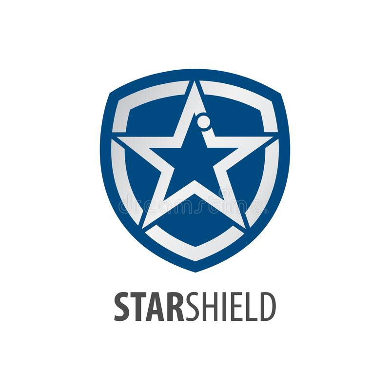 Star shield logo concept design. Symbol graphic template element vector. Star shield logo concept design. Symbol graphic template element royalty free illustration