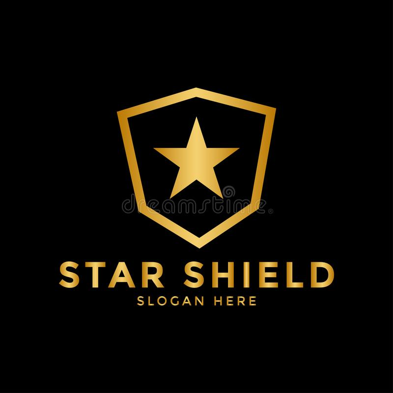 Star shield logo icon design template vector vector illustration