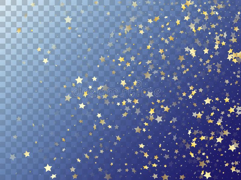 Star shining gold gradient sparkles on transparent background royalty free stock photos
