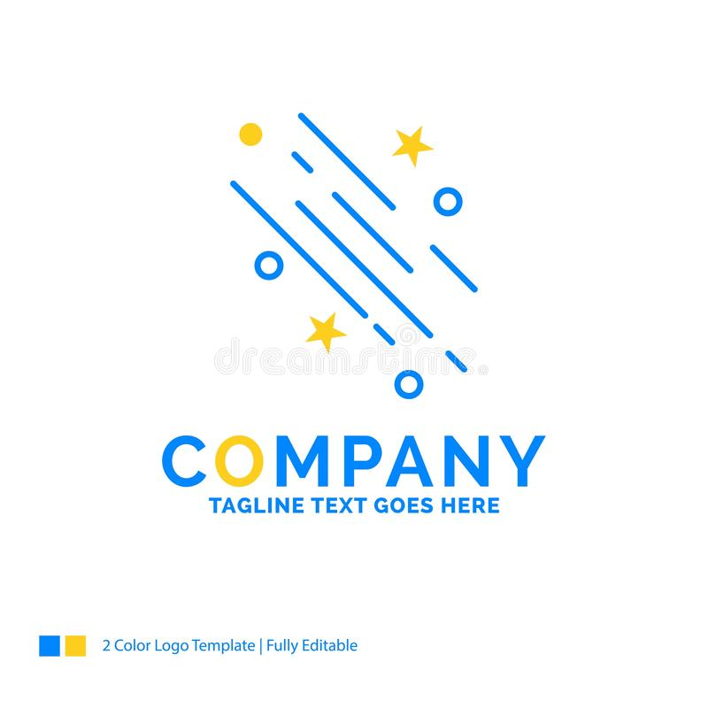 star, shooting star, falling, space, stars Blue Yellow Business vector illustration