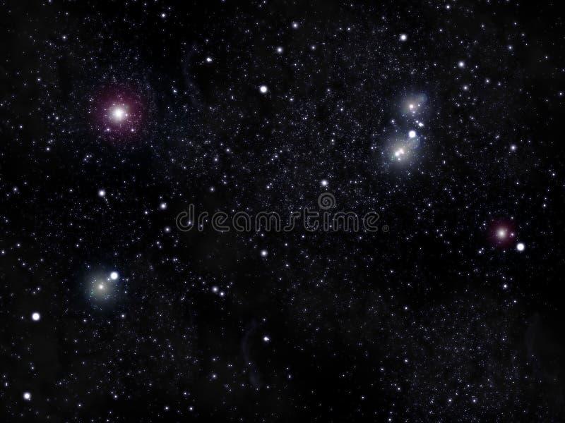 Star sky vector illustration