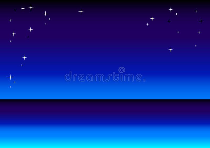 Download Star Sky And Sea Background Stock Vector - Illustration: 13699709