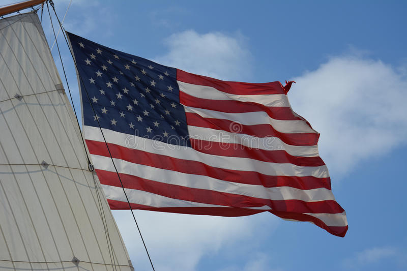 Star Spangled Banner. American Flag stock photography