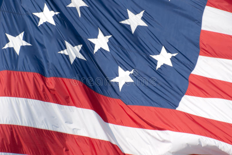 Star Spangled Banner Flag. Closeup of the 15 star flag known as The Star Spangled Banner Flag, that flies over Federal Hill. Skyline of Baltimore. The Star stock photos
