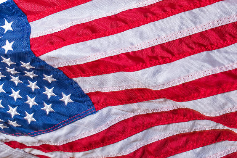 Star Spangled Banner. The United States of America Flag displaying the stars and stripes and is the symbol of freedom stock photos
