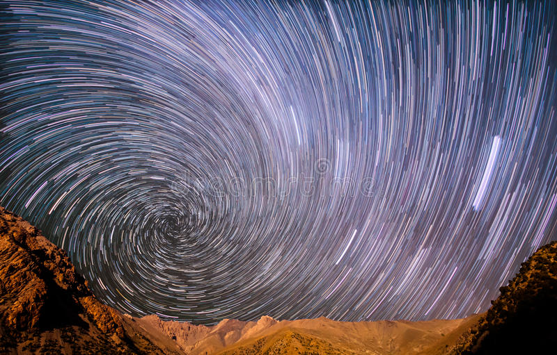 Star spiral in the mountains royalty free stock images