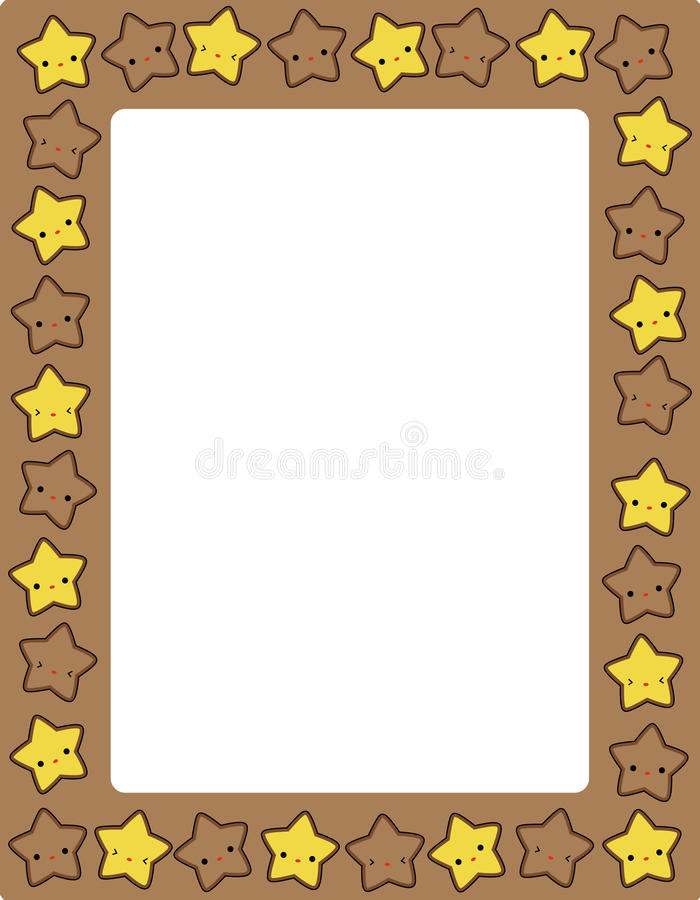 Star / stars border. Cute colorful stars border / frame for greeting cards, party invitation backgrounds etc vector illustration