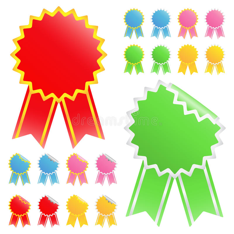 Download Star stickers stock vector. Image of green, business - 19148872