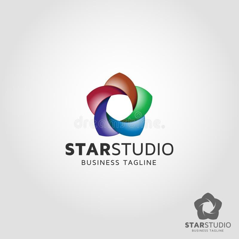 Star Studio Logo Template.  stock illustration