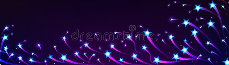 Star swim banner bright vector illustration
