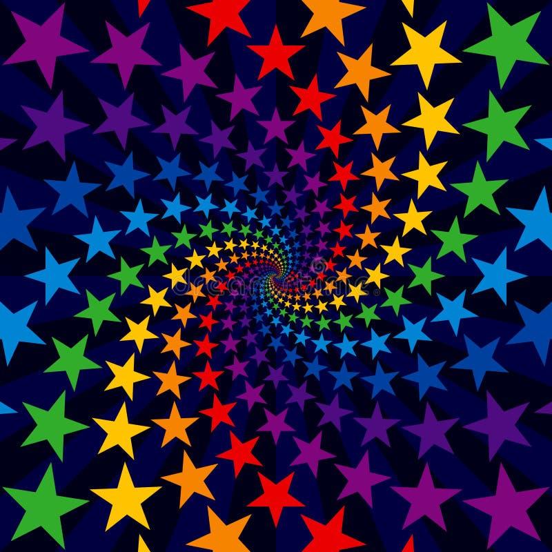Star swirl burst royalty free illustration