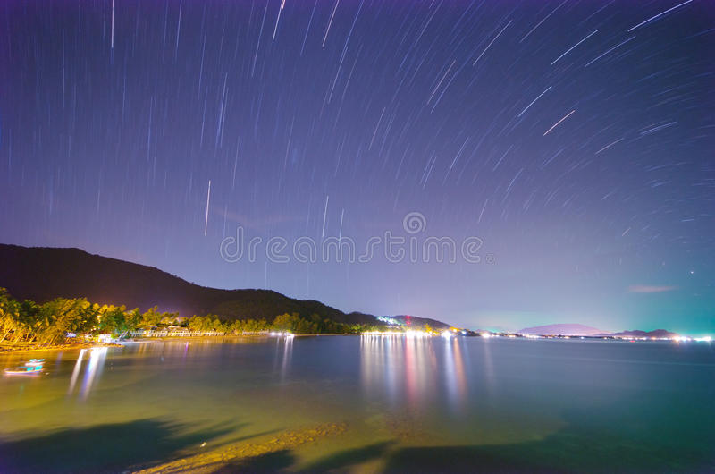 Download Star tail on the beach stock image. Image of light, dusk - 25470109
