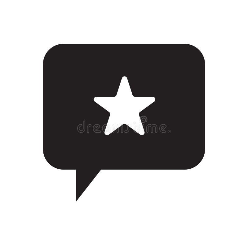 Star and talking balloon icon vector illustration design. Star and talking balloon icon vector web royalty free illustration