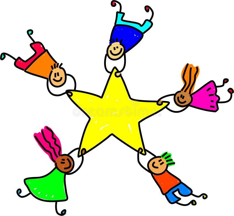 Download Star team stock vector. Image of group, kindergarten, children - 2167030