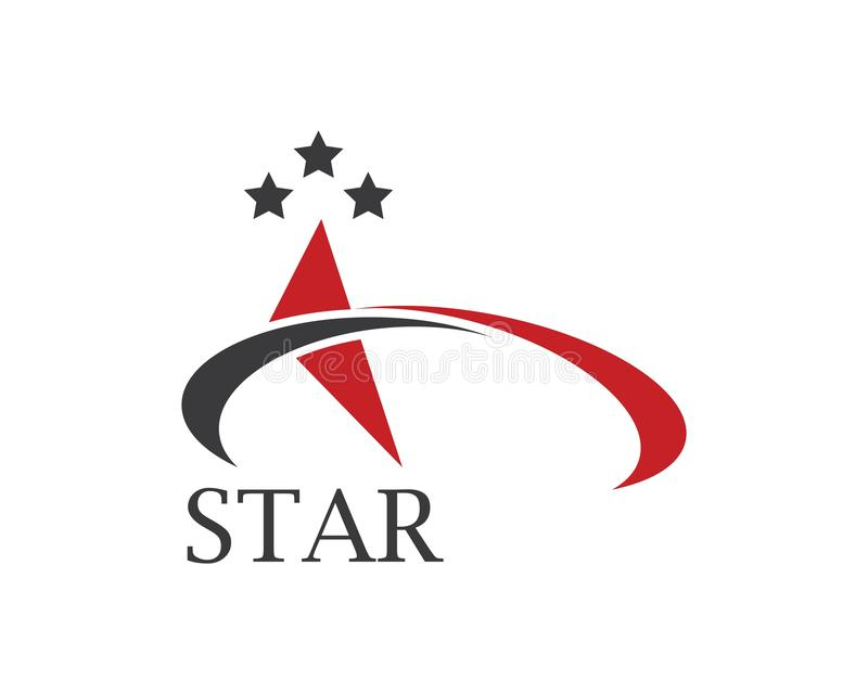Star and A tetter Logo Template vector icon illustration. Design vector illustration