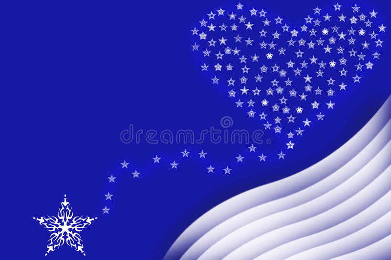 Star To Heart Illustration Royalty Free Stock Photography