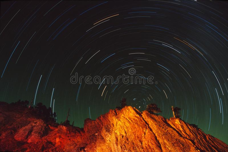 Star Trace royalty free stock photography