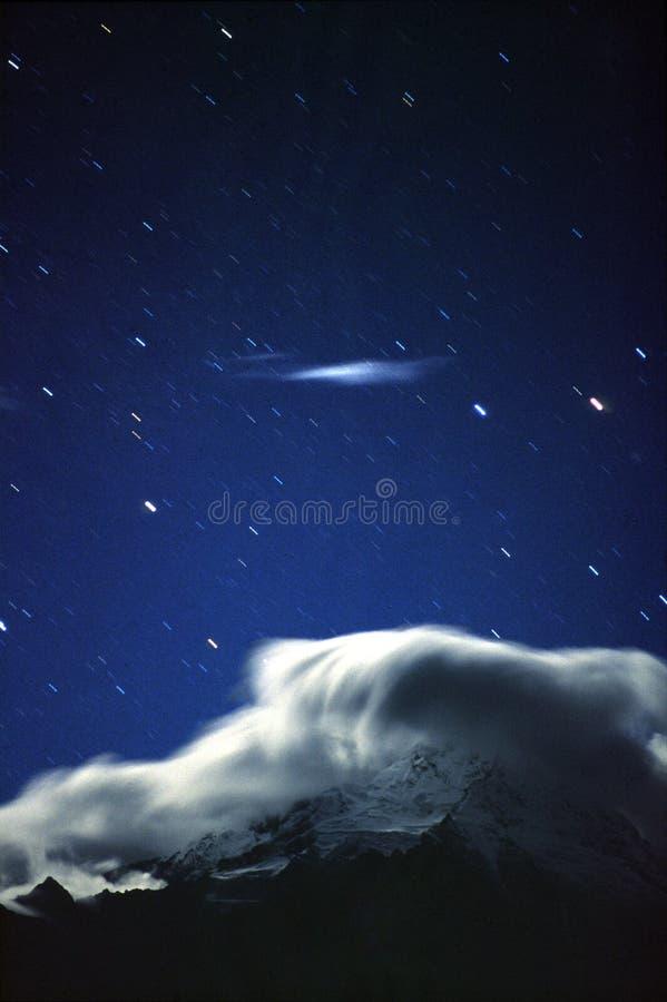 Star track mountain royalty free illustration