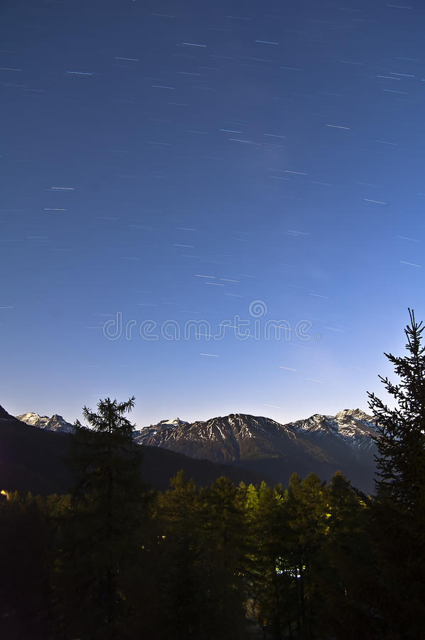 Download Star trails stock image. Image of trail, trails, shot - 21624855
