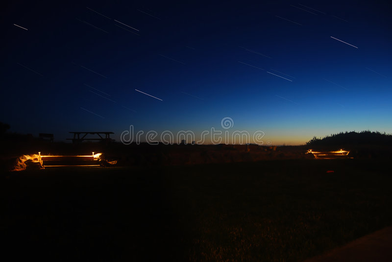 Star Trails royalty free stock image