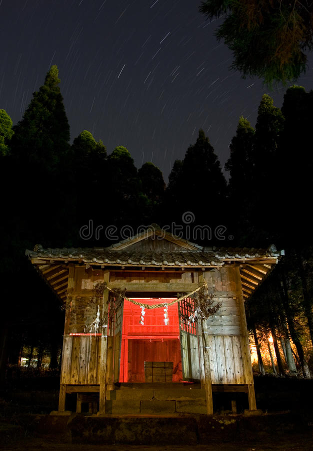 Download Star Trails Above A Rural Japanese Shrine Stock Photo - Image: 12914656