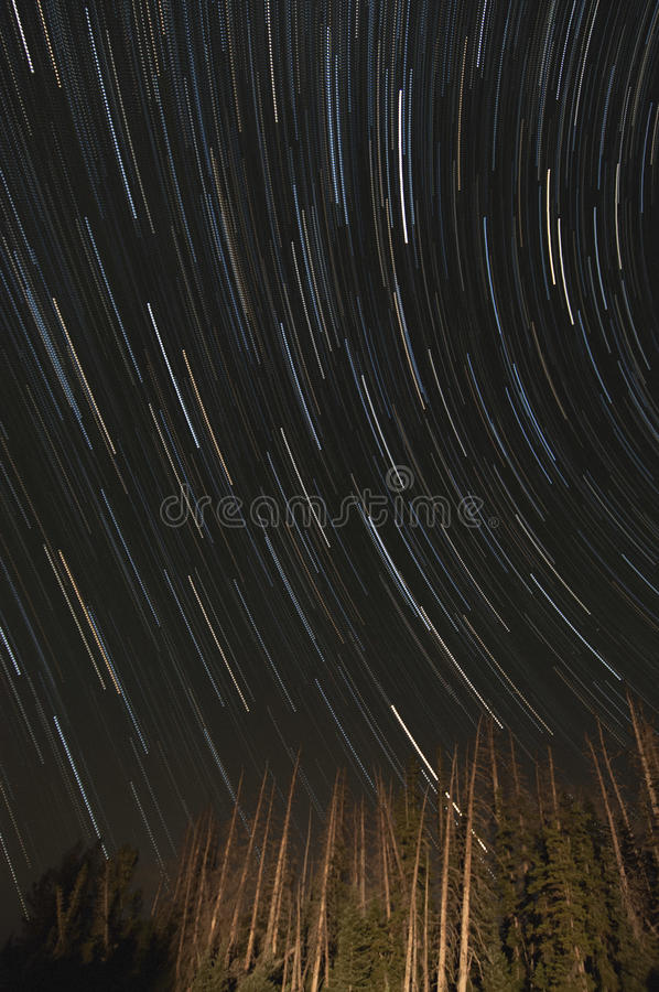 Free Star Trails In The Night Sky Stock Photo - 89088250