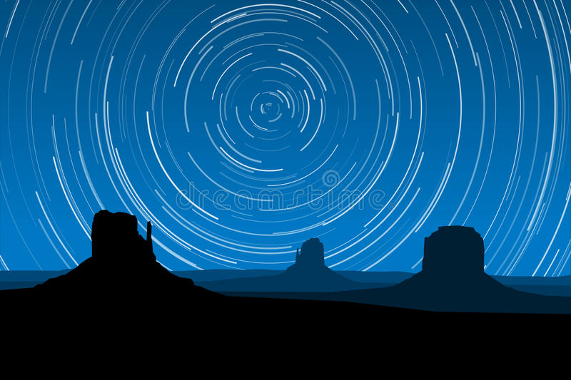 Download Star Trails At Monument Valley, Arizona, EPS10 Vector Stock Vector - Image: 50716049