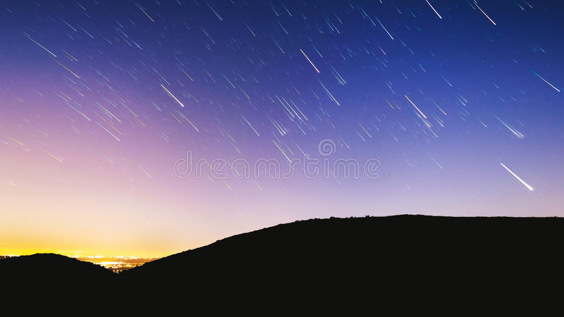 Star Trails In Night Sky Free Public Domain Cc0 Image