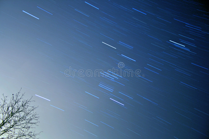 Star trails - Orion royalty free stock image