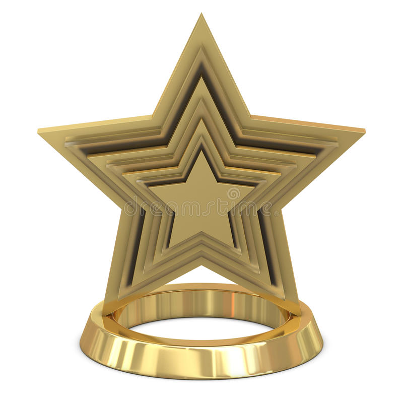 Free Star Trophy Golden - Glass Royalty Free Stock Photo - 17593435